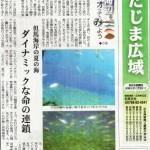 日本海新聞「海辺をジオってみよう」8月はアジ&カンパチ!!
