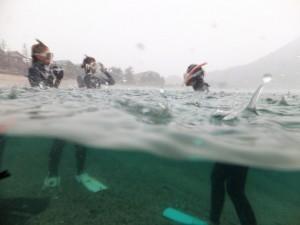 水中と水面